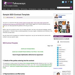 Seo Contract Template | Seo Proposal Templates Pearltrees