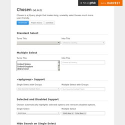 Chosen - a JavaScript plugin for jQuery and Prototype
