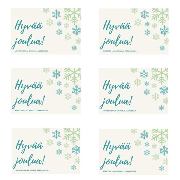 Lahjakorttipohjat aineettomaan lahjaan - joulublogi IIn monistepohja
