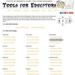 Free Domino Maker - printable text, dot, or image dominos | Pearltrees