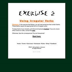 exercises irregular verbs