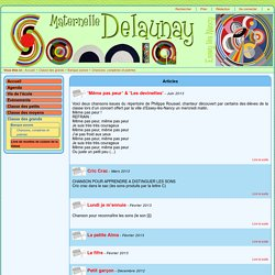 ecole maternelle sonia delaunay chansons comptines et