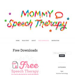 Printables Mommy Speech Therapy Worksheets printables mommy speech therapy worksheets safarmediapps slp resources pearltrees and forms therapy