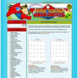 math worksheet : super teacher worksheets  pearltrees : Super Teacher Worksheets Addition And Subtraction