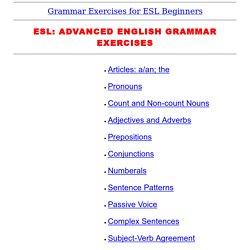 Advanced English Grammar Test