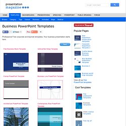 40 awesome keynote and powerpoint templates and resources pearltrees business powerpoint templates toneelgroepblik Image collections