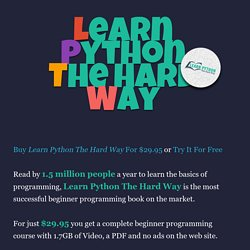 Learn Python The Hard Way Pearltrees