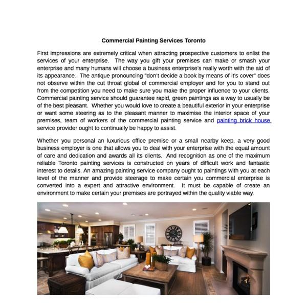 CommercialPaintingServicesToronto
