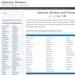 Definition And Examples Of Literary Terms Pearltrees