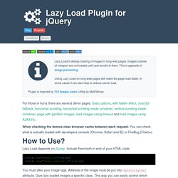 Lazy Load Plugin for jQuery | Pearltrees