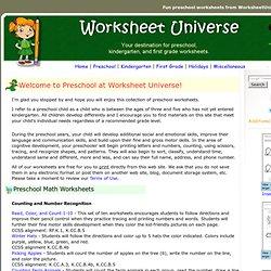 Preschool and Kindergarten Worksheets | Pearltrees