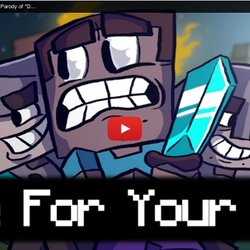 flee for your life a minecraft parody of dont stop me now