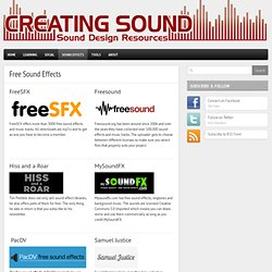 Download Sound Effects | Pearltrees