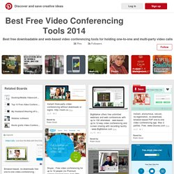 Best Free Video Conferencing Tools 2014 on Pinterest
