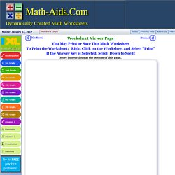 the math worksheet sitecom  pearltrees com  dynamically created math worksheets
