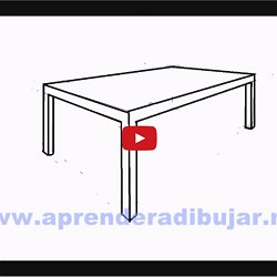 Comment dessiner une table en perspective table de lit - Dessiner une table de jardin ...