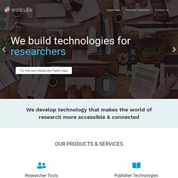 ReadCube for Researchers | Pearltrees