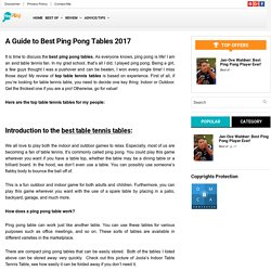 Thomas shaw thomasshaw9688 pearltrees best table tennis tables under 500 fandeluxe Gallery