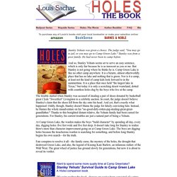 study guide for holes by louis sachar summary of holes analysis louis sachar holes the book