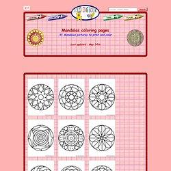 Coloring Book Info Mandalas