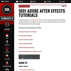 After Effects & Cinema 4D Training Tutorials | Pearltrees