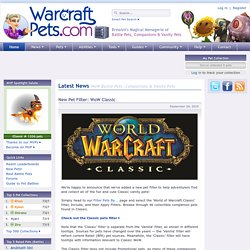 WarcraftPets com - WoW Battle Pets, Companions and Vanity