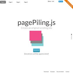 SCROLL / PARALLAX / NAVIGATION | Pearltrees