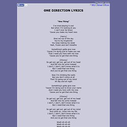 One Direction | Pearltrees