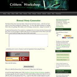 Fiction writers storyline and plot idea generator | Pearltrees
