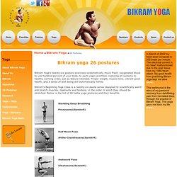 Bikram Yoga 26 Postures