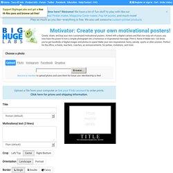 Demotivational Poster Generator - Create your own Demotivational ...