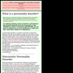 narcissistic personality disorder in adolescents essay