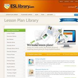 ESL Library - English Lesson Plans, English Flashcards, for ESL