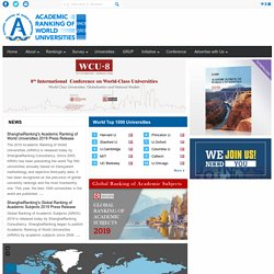 Academic Ranking of World Universities | Pearltrees