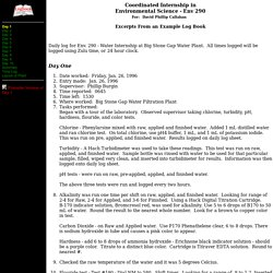 Example logbook for internship