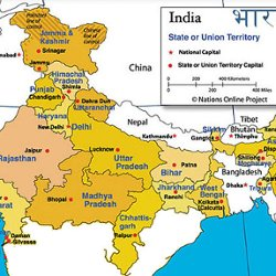 North india travel map pearltrees north india travel map gumiabroncs Image collections