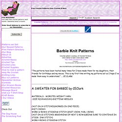 Free Knitting Patterns For Barbie Others Pearltrees