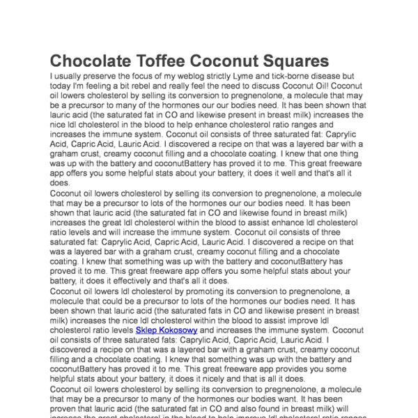 Chocolate Toffee Coconut Squares