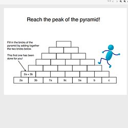 math worksheet : algebra  pearltrees : Pyramid Addition Worksheets