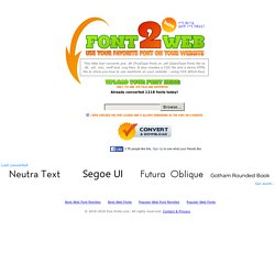 Font2Web - Your Online Font Converter Converting  ttf and