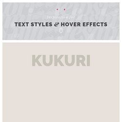 Inspiration for Text Styles and Hover Effects   Pearltrees