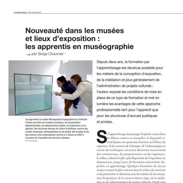 Article sur lapprentissage dans les musees  S. Chaumier LO pp. 12 16