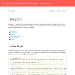FancyBox - Fancy jQuery Lightbox Alternative | Pearltrees