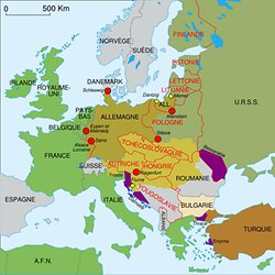 carte europe 1938