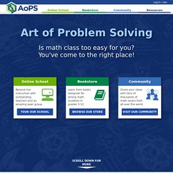 Art of Problem Solving (AoPS)   Pearltrees