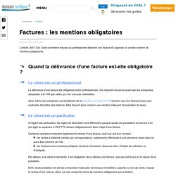Facture Les Mentions Obligatoires Pearltrees