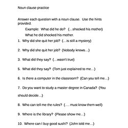 Worksheet Noun Clause Worksheet noun clauses worksheets esl intrepidpath advanced clause worksheet with answers the best and most