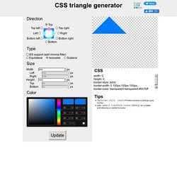 CSS triangle generator | Pearltrees