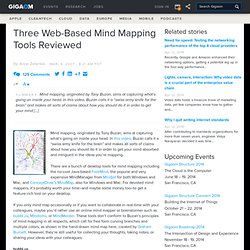 three web based mind mapping tools reviewed online - Web Based Mind Mapping Free