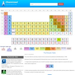 Webelements periodic table of the elements pearltrees periodic table of elements and chemistry urtaz Image collections